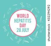 world hepatitis day. hand drawn ...   Shutterstock .eps vector #432294292