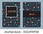 brochure cover design template. ... | Shutterstock .eps vector #432294958