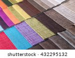 colored fabric samples | Shutterstock . vector #432295132