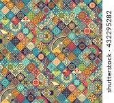 seamless pattern. vintage... | Shutterstock .eps vector #432295282