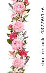 Floral Border With Pink Peony...