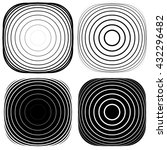 radial  concentric shape set.... | Shutterstock .eps vector #432296482
