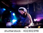 a blurred purple dj working on... | Shutterstock . vector #432302398