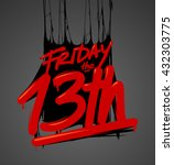 friday the 13th | Shutterstock .eps vector #432303775