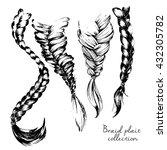 vector illustration of braid... | Shutterstock .eps vector #432305782