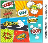 classic comics book page sample ... | Shutterstock .eps vector #432309022