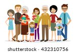 big family on a white background | Shutterstock .eps vector #432310756