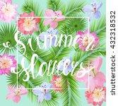 vector handwritten summer...   Shutterstock .eps vector #432318532