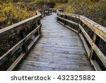 winding boardwalk path through... | Shutterstock . vector #432325882