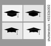 graduate cap vector | Shutterstock .eps vector #432326302
