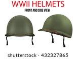 set of military us green... | Shutterstock .eps vector #432327865