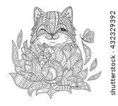 Zentangle Stylized Cat In...