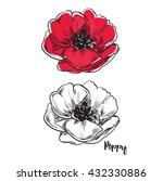 poppy flower  beautiful... | Shutterstock .eps vector #432330886