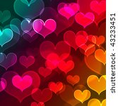 beautiful colorful heart shape... | Shutterstock . vector #43233451