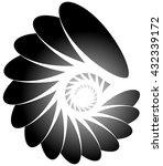 spiral  helix  snail shape.  | Shutterstock .eps vector #432339172