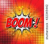 comic speech bubble cartoon... | Shutterstock .eps vector #432345442
