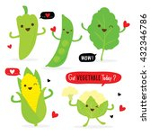 vegetable food fresh cartoon... | Shutterstock .eps vector #432346786