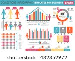 collection of infographic... | Shutterstock .eps vector #432352972