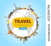 world travel and tourism... | Shutterstock .eps vector #432354796