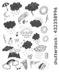 weather hand drawn set | Shutterstock .eps vector #432358996