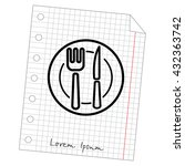 web line icon. cutlery  plate   ... | Shutterstock .eps vector #432363742