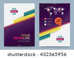 violet cover design template.... | Shutterstock .eps vector #432365956