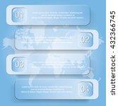 four step diagram  vector... | Shutterstock .eps vector #432366745