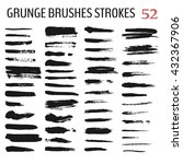 set of grunge brush stroke. ink ... | Shutterstock .eps vector #432367906