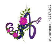 letters decorative . latin... | Shutterstock .eps vector #432371872