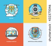 modern flat color line designed ... | Shutterstock .eps vector #432375046