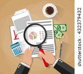 cartoon businessman with... | Shutterstock .eps vector #432379432