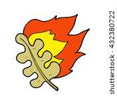 freehand drawn cartoon burning... | Shutterstock .eps vector #432380722