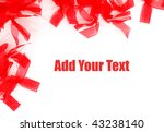 decorative red ribbons | Shutterstock . vector #43238140