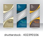 roll up banner stand template | Shutterstock .eps vector #432390106