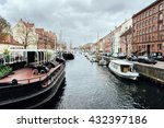 old nordic city water canal... | Shutterstock . vector #432397186