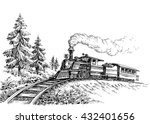 steam train | Shutterstock .eps vector #432401656