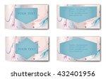 business card. vector... | Shutterstock .eps vector #432401956