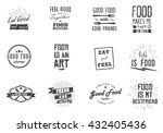 food related inspirational ... | Shutterstock .eps vector #432405436