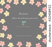 background  template postcard... | Shutterstock . vector #432408922