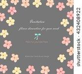 background  template postcard... | Shutterstock . vector #432408922