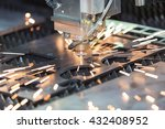 high precision cnc gas cutting... | Shutterstock . vector #432408952