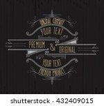 vintage typographic label... | Shutterstock .eps vector #432409015