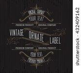 vintage typographic label... | Shutterstock .eps vector #432409162