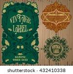vector vintage items  label art ... | Shutterstock .eps vector #432410338