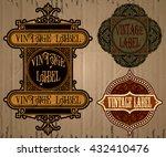 vector vintage items  label art ... | Shutterstock .eps vector #432410476