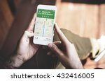 gps navigation directions... | Shutterstock . vector #432416005