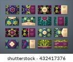 vector vintage business cards... | Shutterstock .eps vector #432417376