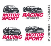 set of four sport cars logo ... | Shutterstock .eps vector #432426868