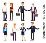 vector detailed characters... | Shutterstock .eps vector #432427636