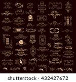 set of elegant calligraphic... | Shutterstock .eps vector #432427672